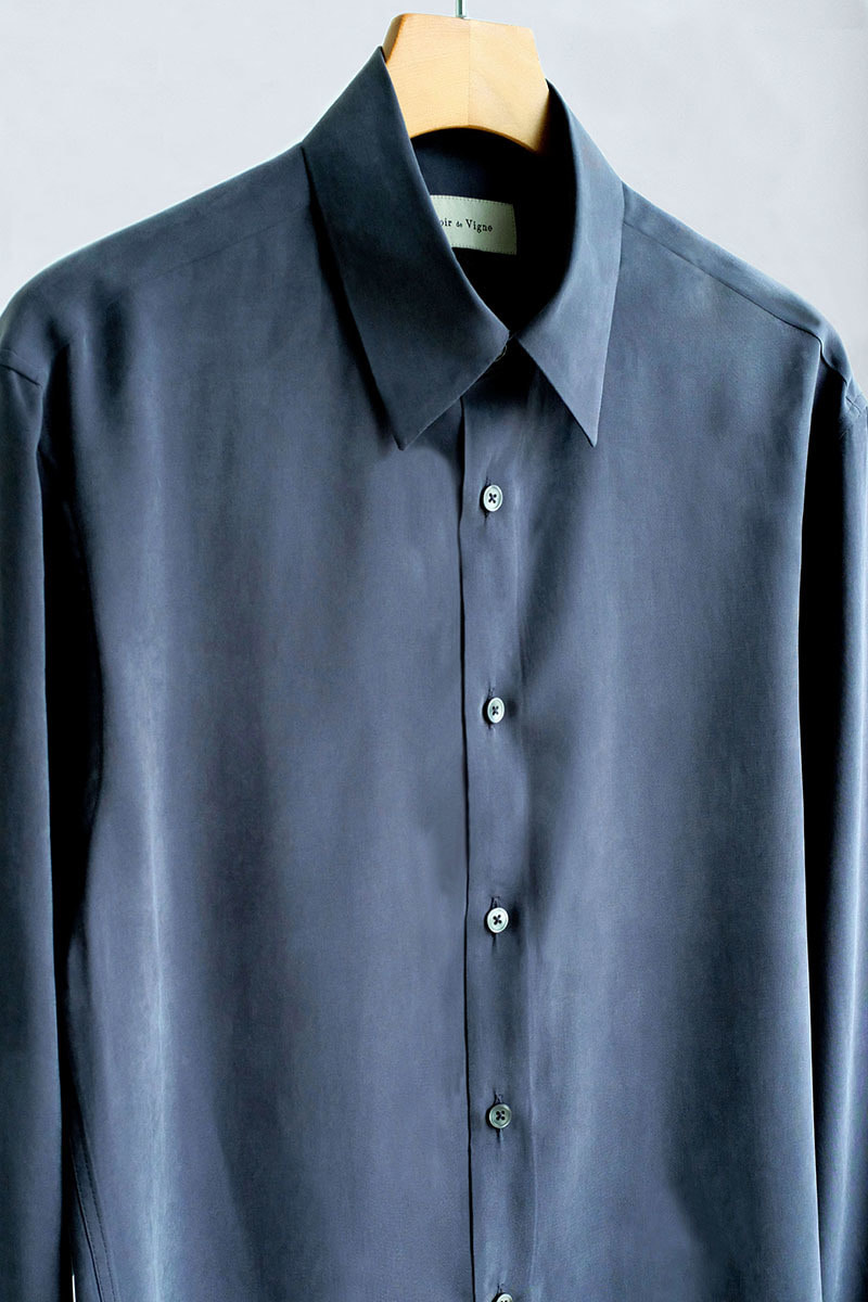 Silky Modal Shirts (Grey)