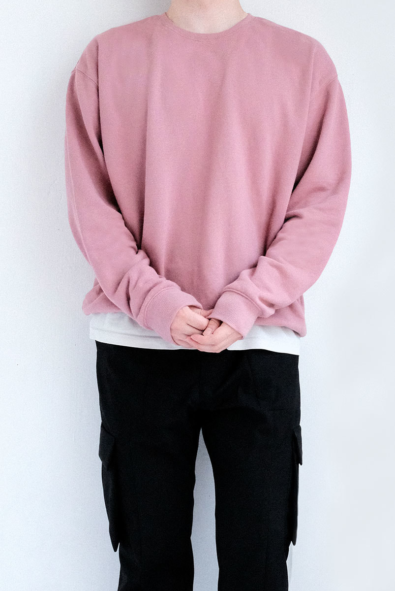Over Sweat Shirts (Sea Pink)