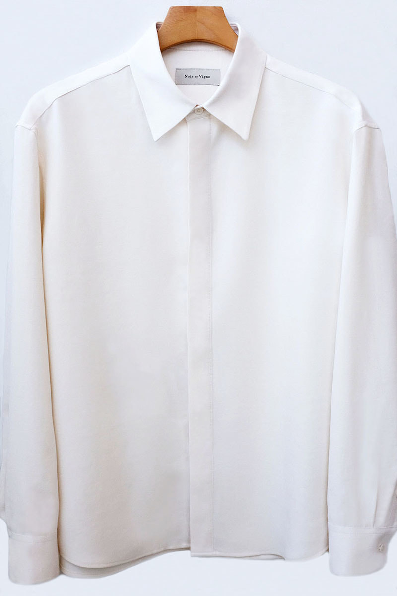 (SALE) Minimal Hidden Shirts (Whisper White)