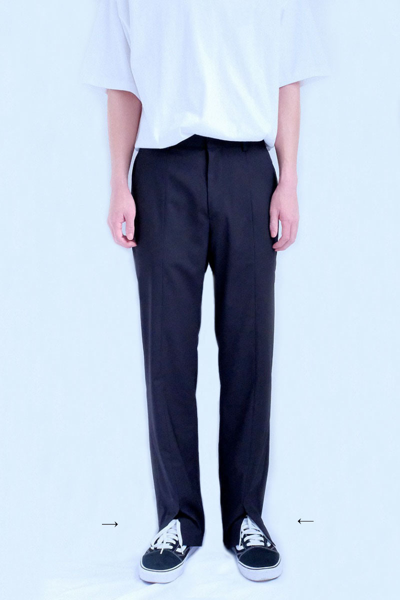 Front-Cut Trousers (Black)