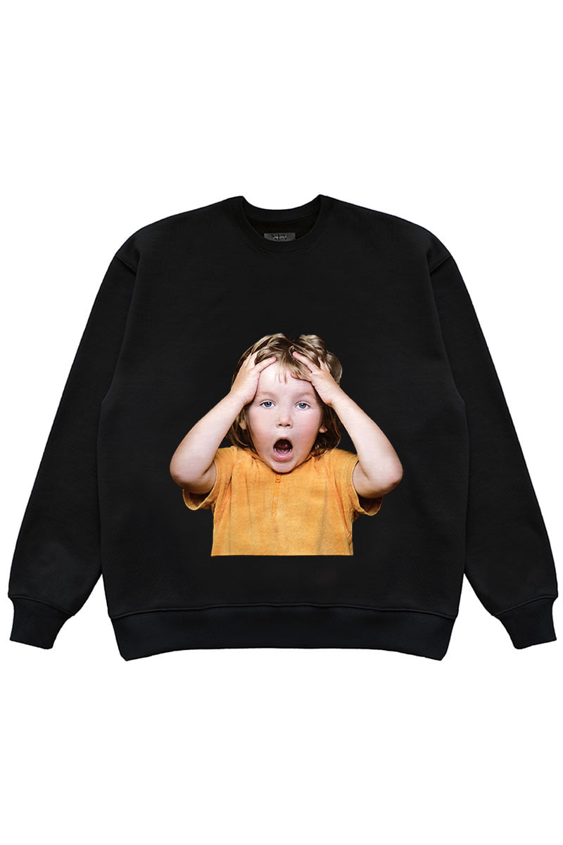 "OH MY GOD SWEAT SHIRTS (OMG) ""BLACK"""