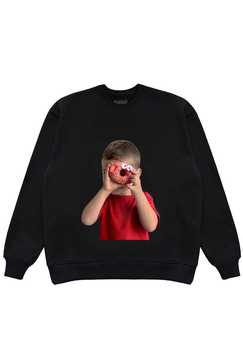 "DONUT BOY SWEAT SHIRTS ""BLACK"""