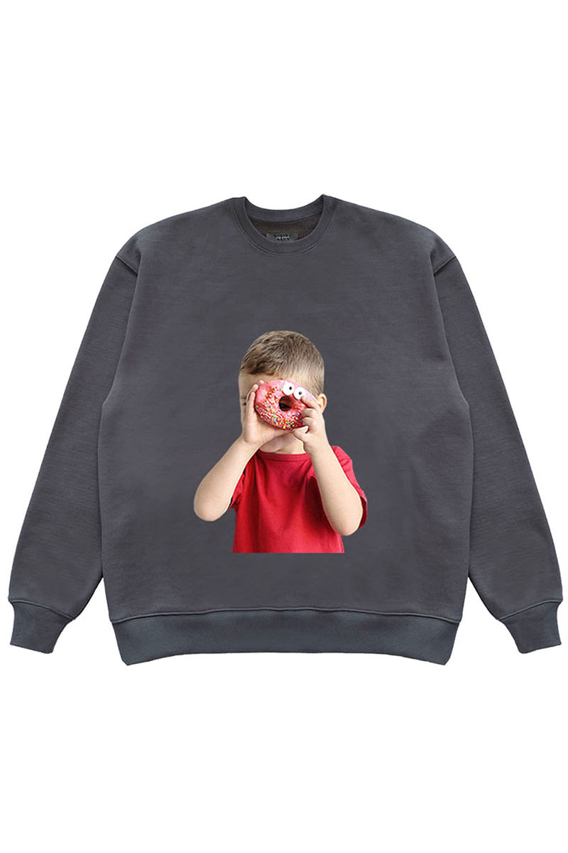 "DONUT BOY SWEAT SHIRTS ""GREY"""
