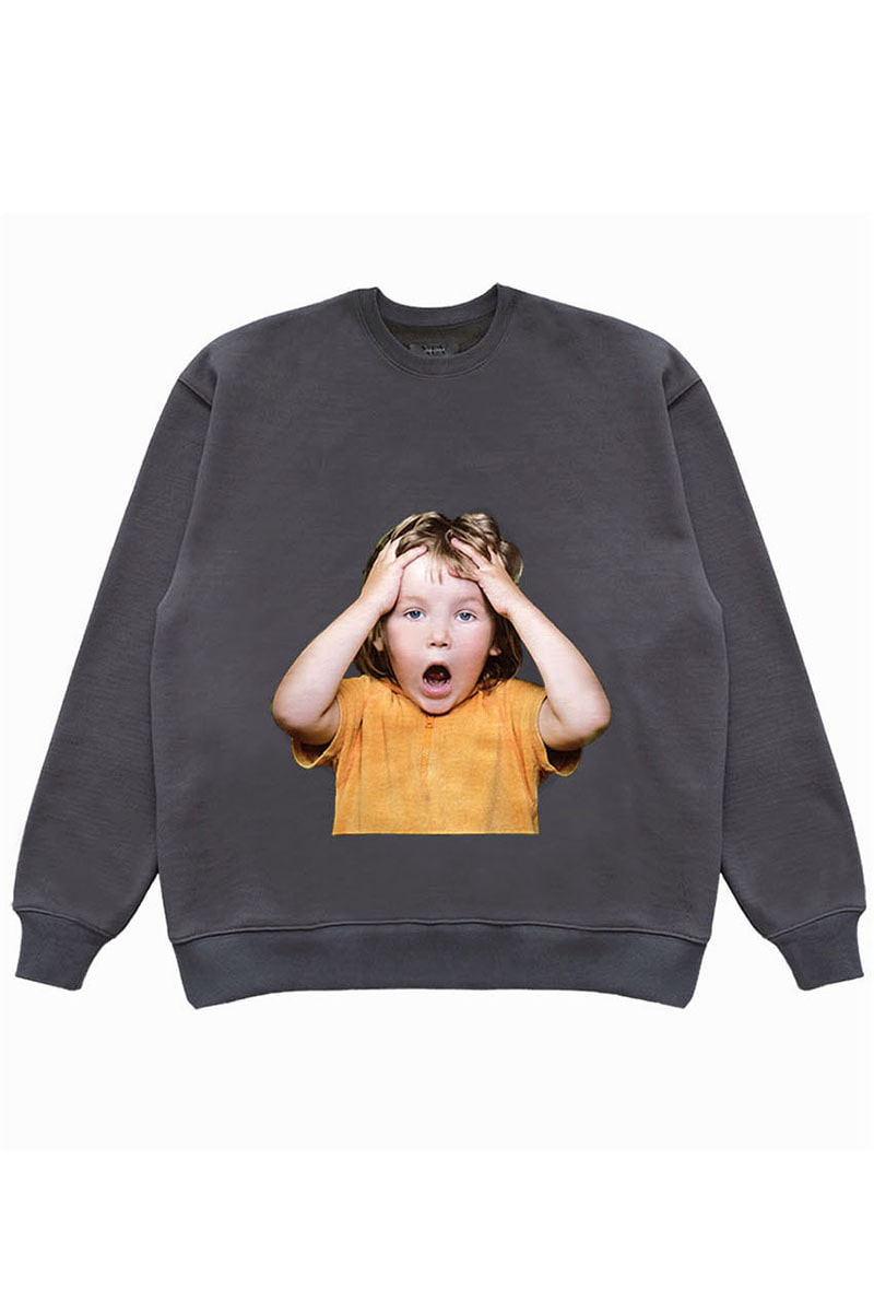 "OH MY GOD SWEAT SHIRTS (OMG) ""GREY"""