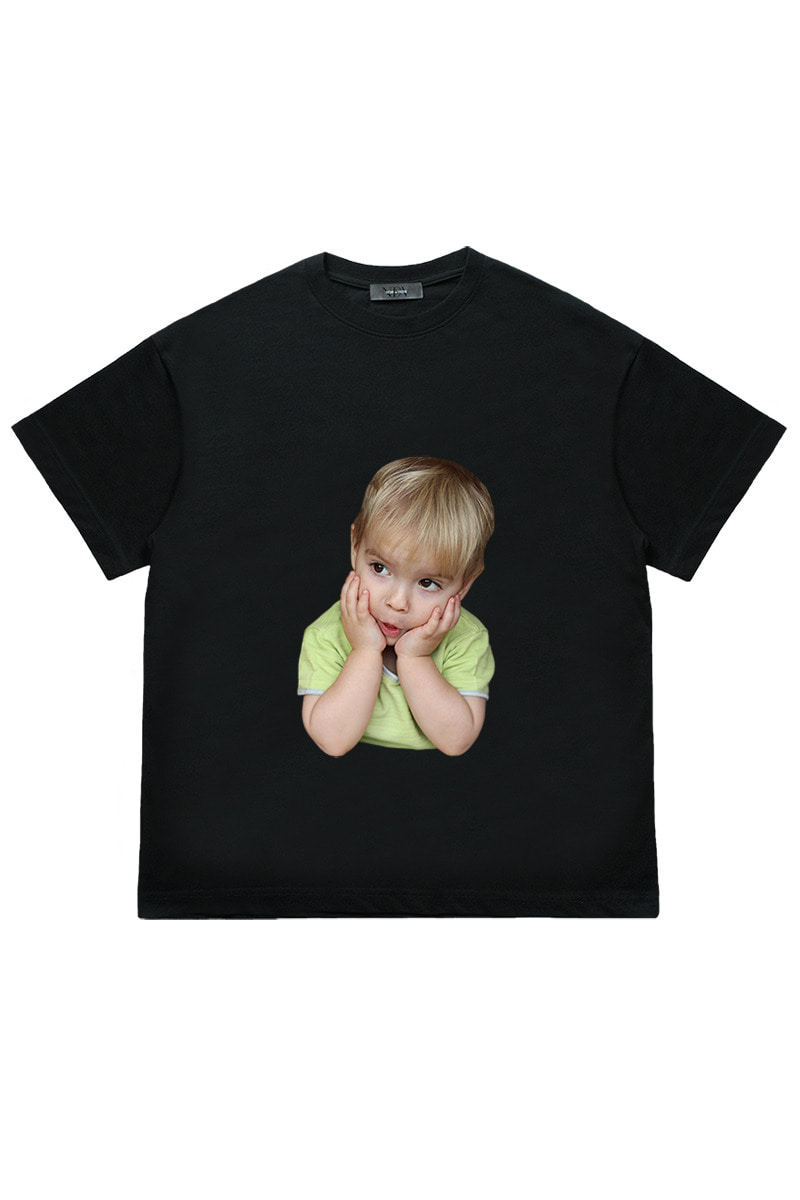 A thinking child 'Short Sleeve Black