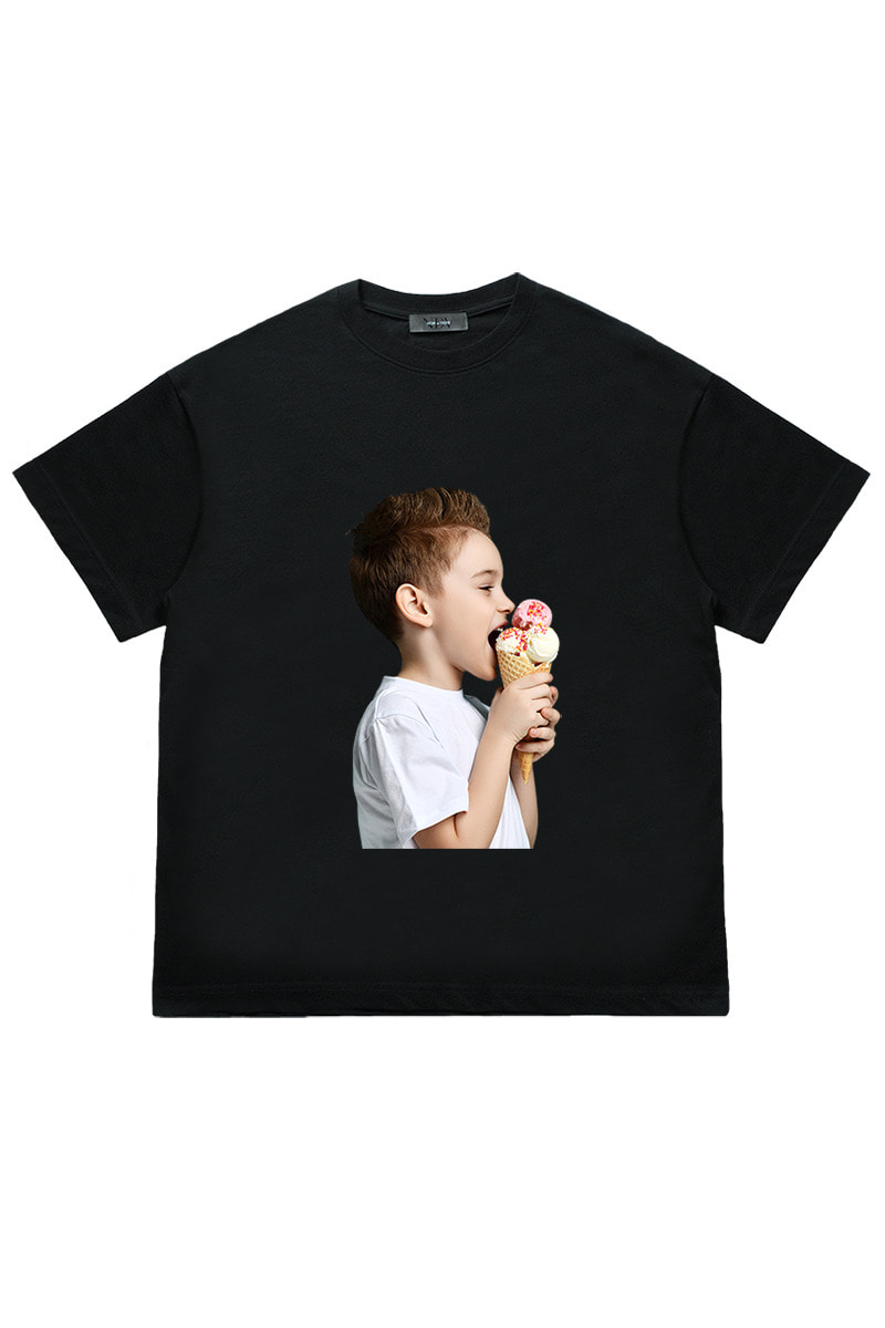 Ice cream boy 'Short Sleeve (Black)