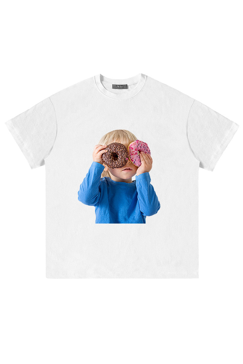 Two Donut Child 'Short Sleeve (White)
