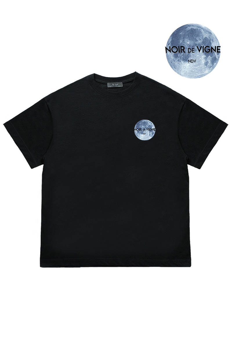 Moon Space Man 'Short Sleeve (Black)